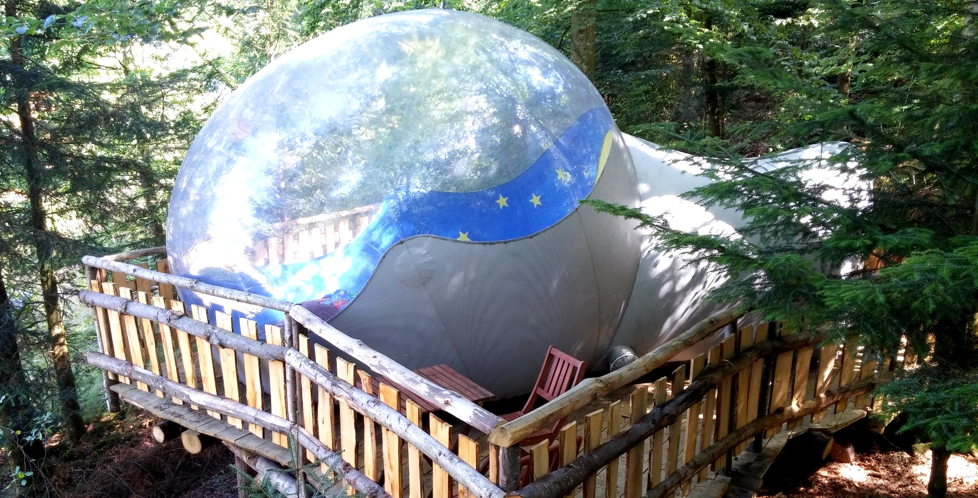 Sleep in a transparent bubble in the middle of nature ! & The bubble tent - Camping du Mettey
